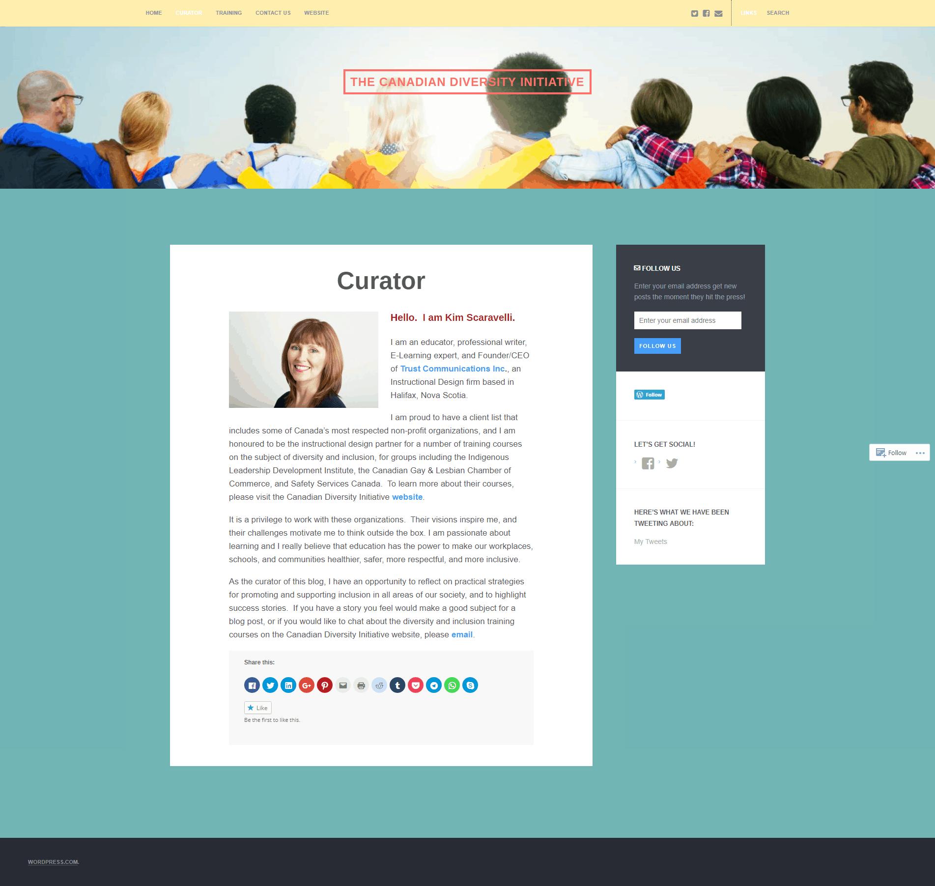 old Canadian Diversity Initiative website