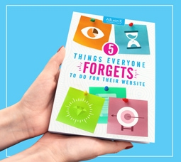 hands hodling cover of '5 Things Everyone Forgets To Do For Their Webiste