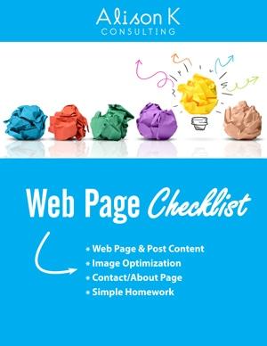 Web-Page-Checklist-Alison-K-cover