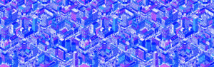 Illustration of many kinds of city blocks in repeat pattern. To illustrate how to drive free traffic to a blog with SEO
