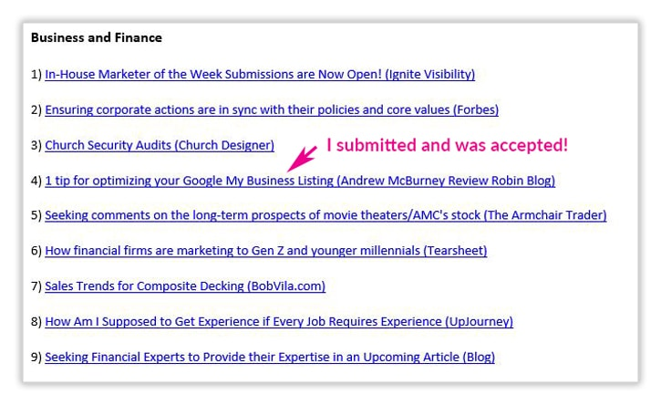 Example of a HARO email with 1 media query that I actually applied to and was accepted.